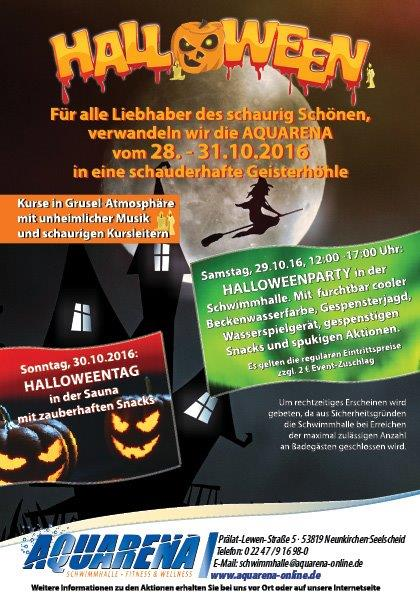 gemeinde neunkirchen seelscheid halloween in der aquarena. Black Bedroom Furniture Sets. Home Design Ideas